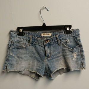 Bullhead Distressed Medium Wash Jean Shorts